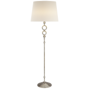 Торшер Bristol Floor Lamp in Burnished Silver Leaf with Linen Shade