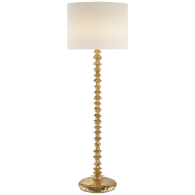 Торшер Lilian Floor Lamp in Gild with Linen Shade