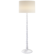 Торшер Lilian Floor Lamp in Plaster White with Linen Shade