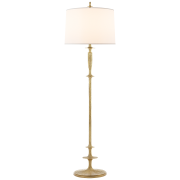 Торшер Lotus Floor Lamp in Gild with Silk Shade