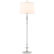 Торшер Lotus Floor Lamp in Plaster White with Silk Shade