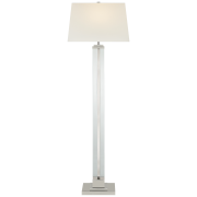 Торшер Wright Large Floor Lamp in Polished Nickel with Linen Shade