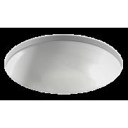 Раковина круглая встраиваемая под столешницу Jacob Delafon, керамика, 400х400х130 мм