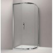 Дверь для душа с радиусным элементом TORSION, стекло и металл, Jacob Delafon, 1000х1000х1950 мм