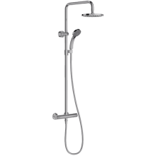 Душевая колонна со смесителем, верхней лейкой и ручным душем JULY, хром, Jacob Delafon, 454х283х1150 мм