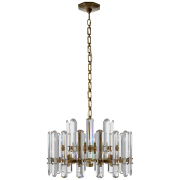 Люстра Bonnington Chandelier in Hand-Rubbed Antique Brass with Crystal