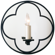 Бра Quatrefoil Round Mirrored