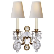 Бра YVES CRYSTAL DOUBLE ARM SCONCE