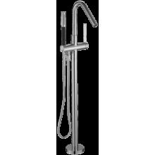 Смеситель напольный для ванны с ручным душем и металлическим шлангом, хром, Jacob Delafon, высота 1000 (выступ 213) мм