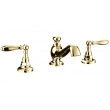 Смеситель для раковины на 3 отверстия, золото, VUELO, Imperial