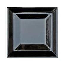 Плитка IMPERIAL, керамика, рельефная черная глянцевая, 15х15 см